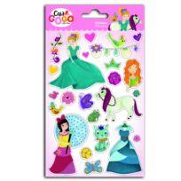 Teo & Zina - Stickers Princesses : Glitter