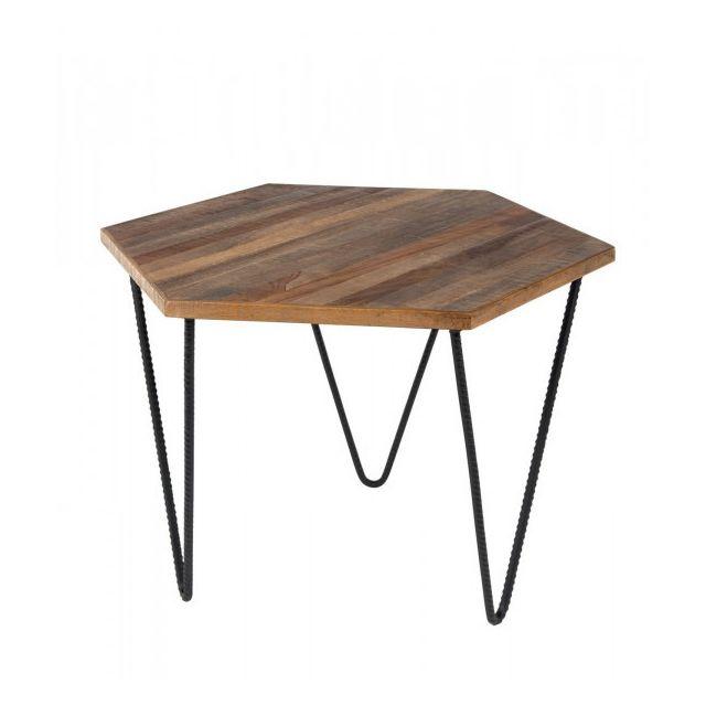 Mathi Design Polygone - Table basse en teck
