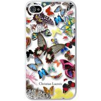 Christianlacroix - Coque Butterfly Parade de Christian Lacroix couleur Opaline pour iPhone 4/4S