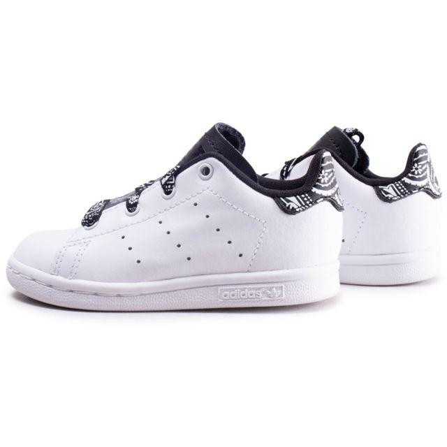 Adidas - Stan Smith Bandana Noir Et Blanc Bébé - pas cher ...