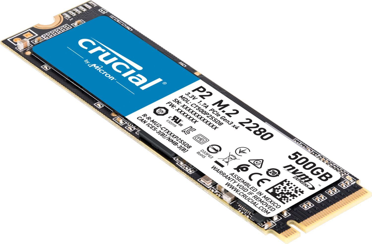 SSD P2 M.2 500 Go Crucial