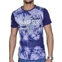 Sohype - So Hype - Tshirt Manches Courtes - Homme - Surf Spot - Bleu