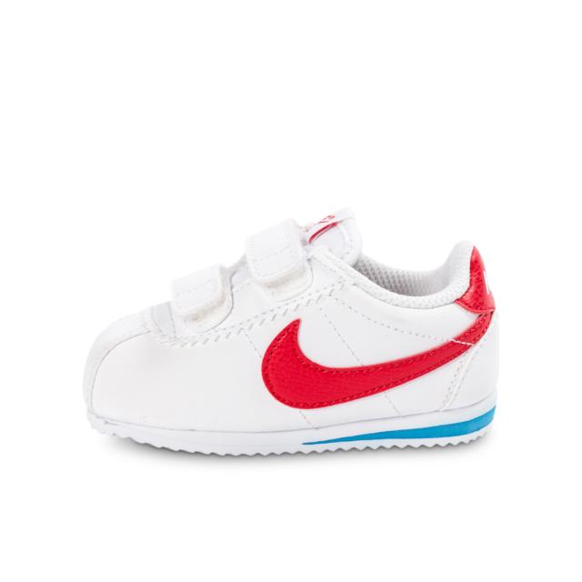 6b35d7ac3f67a Nike - Cortez Cuir Bébé Blanche Et Rouge - pas cher Achat   Vente Chaussures