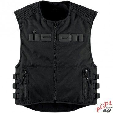 icon gilet dorsale brigan vest l xl 28300236 pas cher achat vente protections pilote. Black Bedroom Furniture Sets. Home Design Ideas