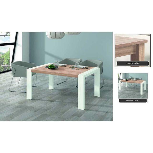Kronos Table A Manger Rectangulaire Extensible 144/204 Finition Chene Clair Mod. M-302