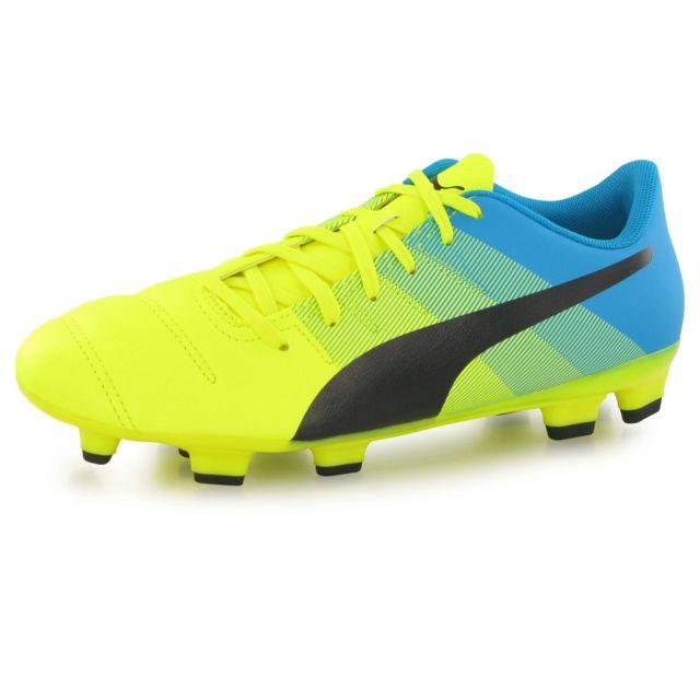 Puma Evopower 4.3 Fg jaune, chaussures de football mixte