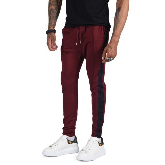 baskets images détaillées mode attrayante Pantalon de jogging à bandes contrastés Homme Paris