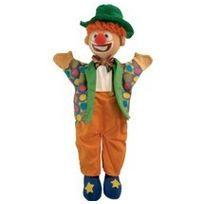 Au Sycomore - Marionnette à main Clown 35 cm