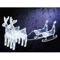 jardideco dcoration de nol traineau 2 rennes led - Achat Decoration Noel Exterieur