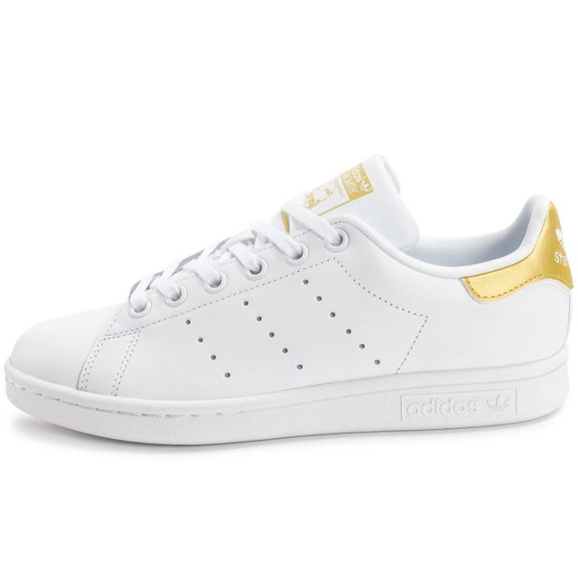 Adidas originals - Stan Smith Junior Blanche Et Or - pas cher Achat ... 2f4f2f76d30f