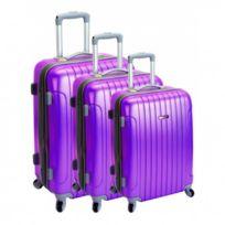Madison - Madisson Bagage Lot de 3 valises - 4 Roues - Rigide - Extensible - Violet