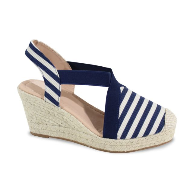 Alistair - By Shoes - Sandale Avec Plateforme Style Marin - Femme - Taille  37 - 4d290ef2537e