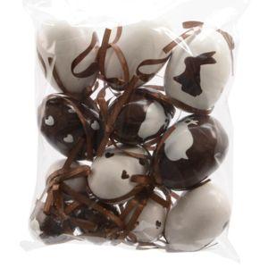 eminza lot de 12 oeufs de p ques gourmands chocolat pas cher achat vente objets d co. Black Bedroom Furniture Sets. Home Design Ideas
