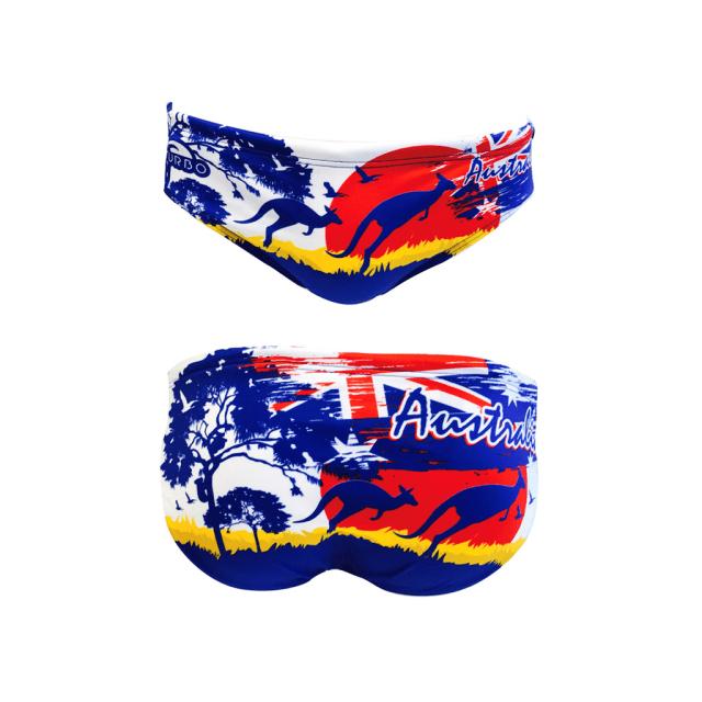 71621312492f Turbo - Maillot de water-polo Australia Landscape bleu Multicolour - pas  cher Achat   Vente Maillots de bain - RueDuCommerce