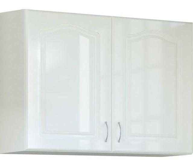 Comforium Meuble haut de cuisine style contemporain 80 cm avec 2 portes coloris blanc