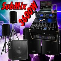 Ibiza Sound - Sono 3600w Mixage Double Cd Ampli 4 Enceintes Caisson