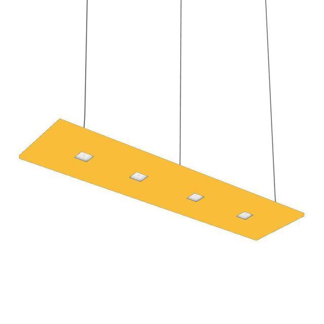 Nowleds Laris - Suspension Led 4 lumières Jaune lumière neutre L120cm - Suspension designé par