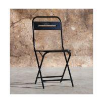 Pliante Noir Métal Steel Chaise En HWD2E9I