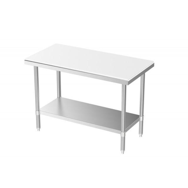 Combisteel Table Inox de Découpe - Profondeur 700 inox 700x700 700
