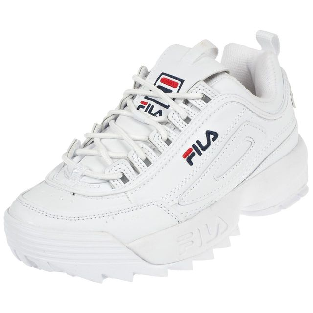fila chaussures mode ville disruptor low blanc blanc. Black Bedroom Furniture Sets. Home Design Ideas