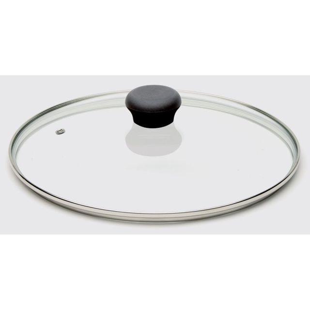 Cristel Couvercle en verre bouton noir Cookway One