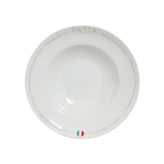 Novastyl Assiette à pâte en porcelaine D.27cm - Lot de 6 Party
