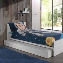lit 90x190 avec tiroir achat lit 90x190 avec tiroir pas cher soldes rueducommerce. Black Bedroom Furniture Sets. Home Design Ideas