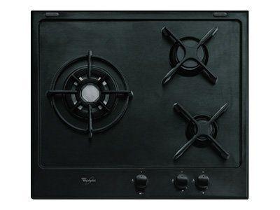whirlpool table de cuisson gaz 60cm 3 feux noir akt653nb achat plaque de cuisson gaz. Black Bedroom Furniture Sets. Home Design Ideas