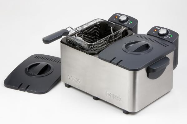 Double Friteuse avec zone froide - Capacité 2 x 3 Litres - 2 x 2000W