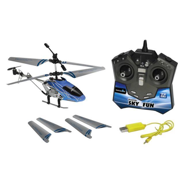 """REVELL Hélicoptère RC """"SKY FUN"""" 18,5 cm Hélicoptère RC de 18,5 cm, 3 voies prêt à voler en 2,4 GHz pour jouer à plusieurs sans interférence - Longue portée (5m), pilotage intérieur / ext&eac"""