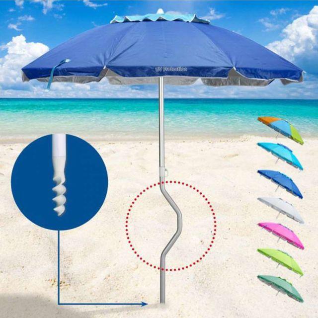 girafacile parasol de plage aluminium leger visser pas. Black Bedroom Furniture Sets. Home Design Ideas