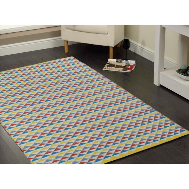 CARREFOUR - Tapis tissé à la main - Multicolore 120 - 180