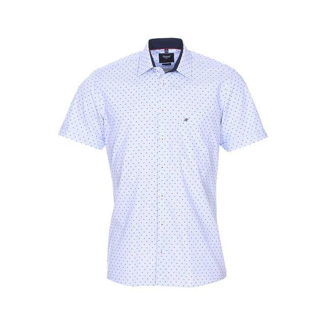 76d235ef457 73682-jean-chatel-e18-chemise-london-gor-piquee-mc-20201-12-bleu-chemise-manches-courtes-jean-chatel-london-gor-piquee-en-coton-melange-bleu-ciel-a-motifs-  ...