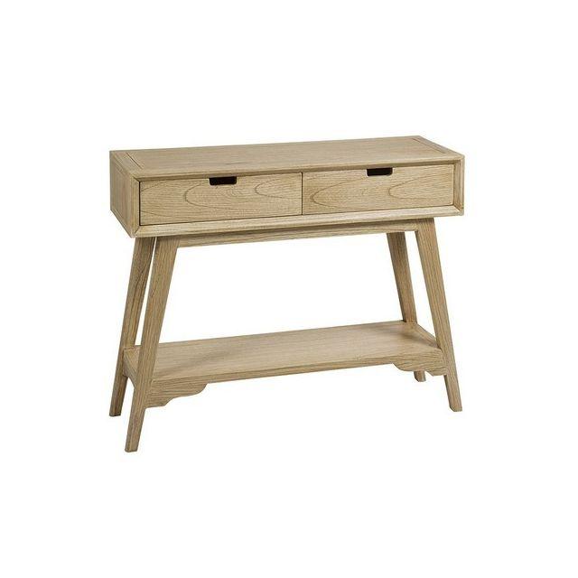 Icaverne Superbe meuble d'entrée bois mindi playwood 95 x 30 x 78 cm