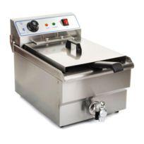 Helloshop26 - Friteuse acier inox 1 bac 16 litres cuve et resistance amovible robinet vidange professionnelle 3614015