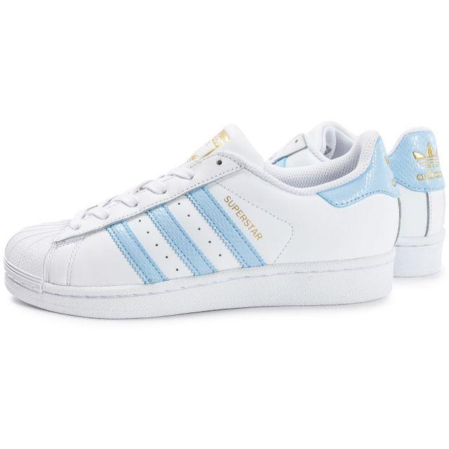 adidas superstar bleu et blanc