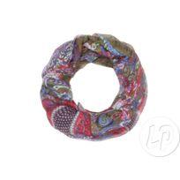 3f6a7a3576ce Coolminiprix - Lot de 3 - Foulard tube motif cachemire kaki rouge violet -