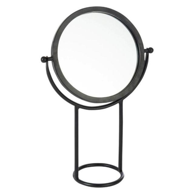 Paris Prix Miroir Rond sur Pied en Métal \