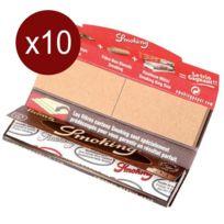 Smoking - Lot De 10 Carnets Feuilles+CARTONS Brown King Size 33F/CARNETS