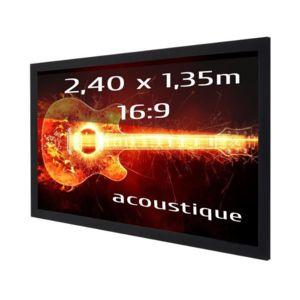 kimex ecran de projection sur cadre 2 40 x 1 35m format. Black Bedroom Furniture Sets. Home Design Ideas