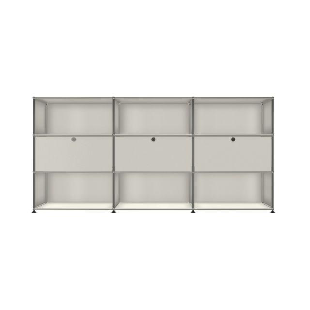 Usm Haller Board 3 x 3 éléments - extrait - ouvert - 24 blanc pur - ouvert