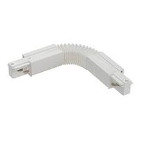 Eutrac - Connecteur flexible pour rail 3 allumages - Blanc