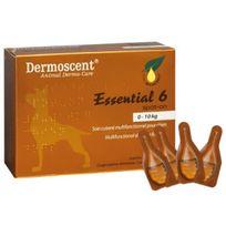 Dermoscent - Essential 6 soins cutanés pour chiens 1/10 kg Boîte de 4 Pipettes