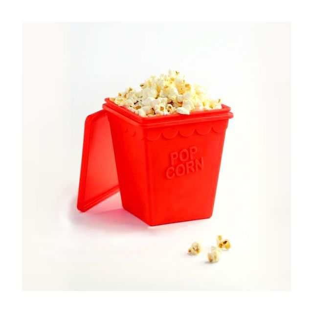 YOKO DESIGN Pot à Pop-Corn en silicone Trendy Pop Rouge