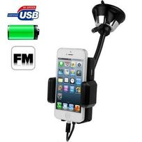 Yonis - Transmetteur Fm iPhone 5 kit mains libres support voiture ventouse