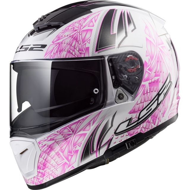 ls2 casque moto int gral ff390 breaker rumble femme blanc rose brillant pas cher achat. Black Bedroom Furniture Sets. Home Design Ideas