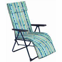 Eredu - Fauteuil relax 5 positions matelas 3 cm tetiere eredu292/4 coloris 40