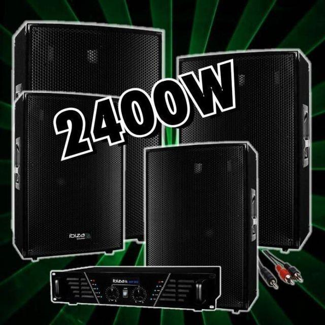 Ibiza Sound Pack sono 2400w avec ampli sono - 4 enceintes 600w prix fou