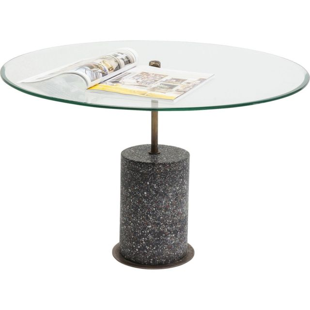 Karedesign Table basse Terrazzo visible noire 47cm Kare Design