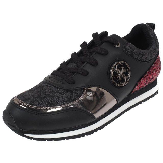 Guess - Chaussures mode ville Reeta black lady Noir 59134 - pas cher Achat    Vente Baskets femme - RueDuCommerce c56c84a3eea6